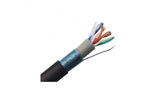 Кабель ATcom FTP cat.5e Cu (медь) 4 пары 0,5 мм, наружный, PVC+PVE, 305 м Premium (13426)