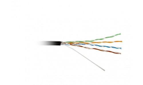 Кабель ATcom UTP cat.5e CU (медь) 4 пары 0,5 мм, наружный, PVC+PVE, 305 м Premium (16414)