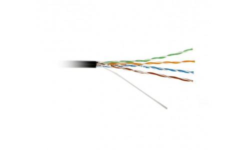 Кабель ATcom UTP cat.6 CCA 4 пары 0,51 мм, наружный, PVC+PVE, 305 м 1Gb/s Standart (88414)