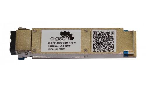 Модуль QSFP A-GEAR LR4  40G 10km TX1270,1330nm RX1270,1330nm